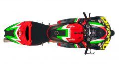 L'Aprilia RS-GP 2020 vista dall'alto