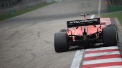 L'attuale ala posteriore della Ferrari di Sebastian Vettel
