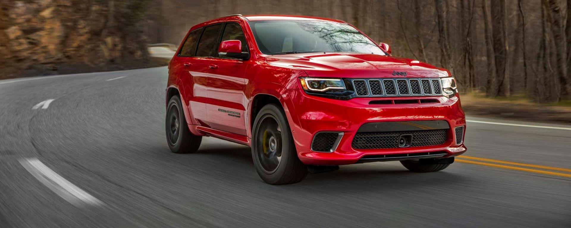 L'attuale Jeep Grand Cherokee in versione Trackhawk