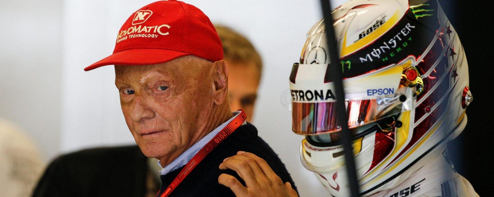 Lauda e Hamilton - F1 GP USA