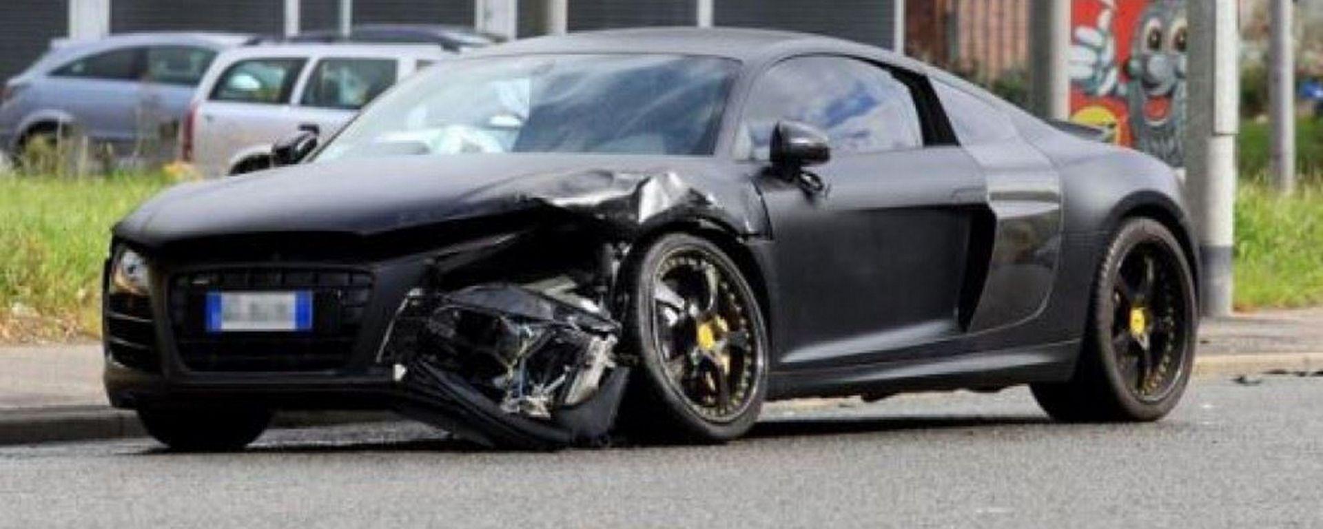 L'Audi R8 di Mario Balotelli