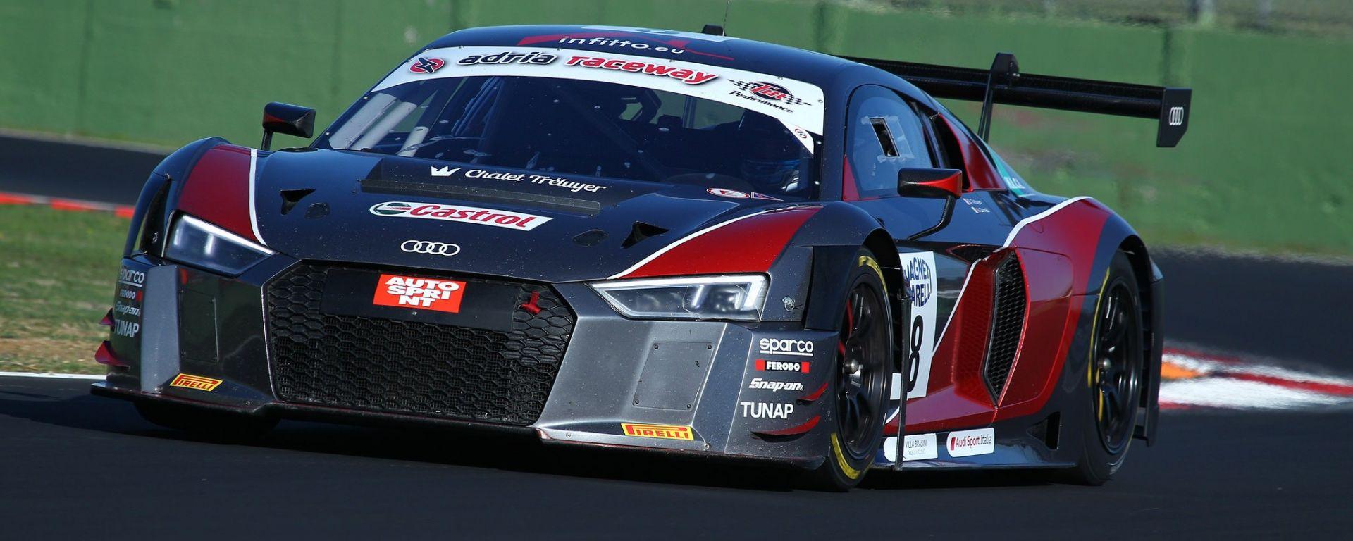 L'Audi R8 LMS a Vallelunga