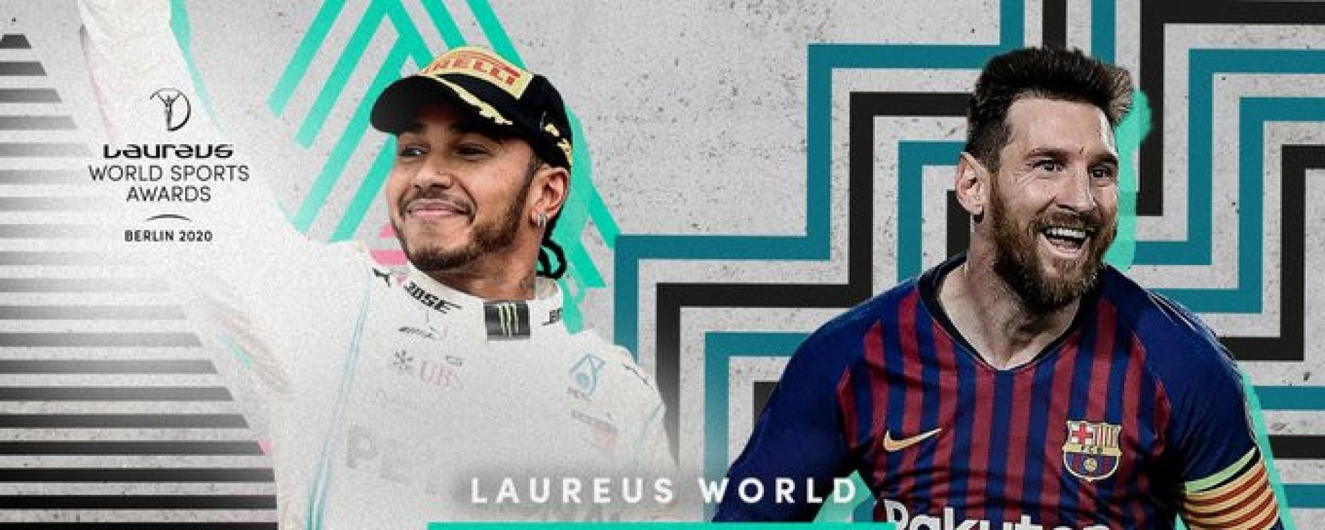 Laureus World Sportsman of the year 2020: Lewis Hamilton e Lionel Messi