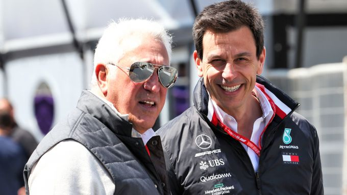 Lawrence Stroll (Racing Point) e Toto Wolff (Mercedes)