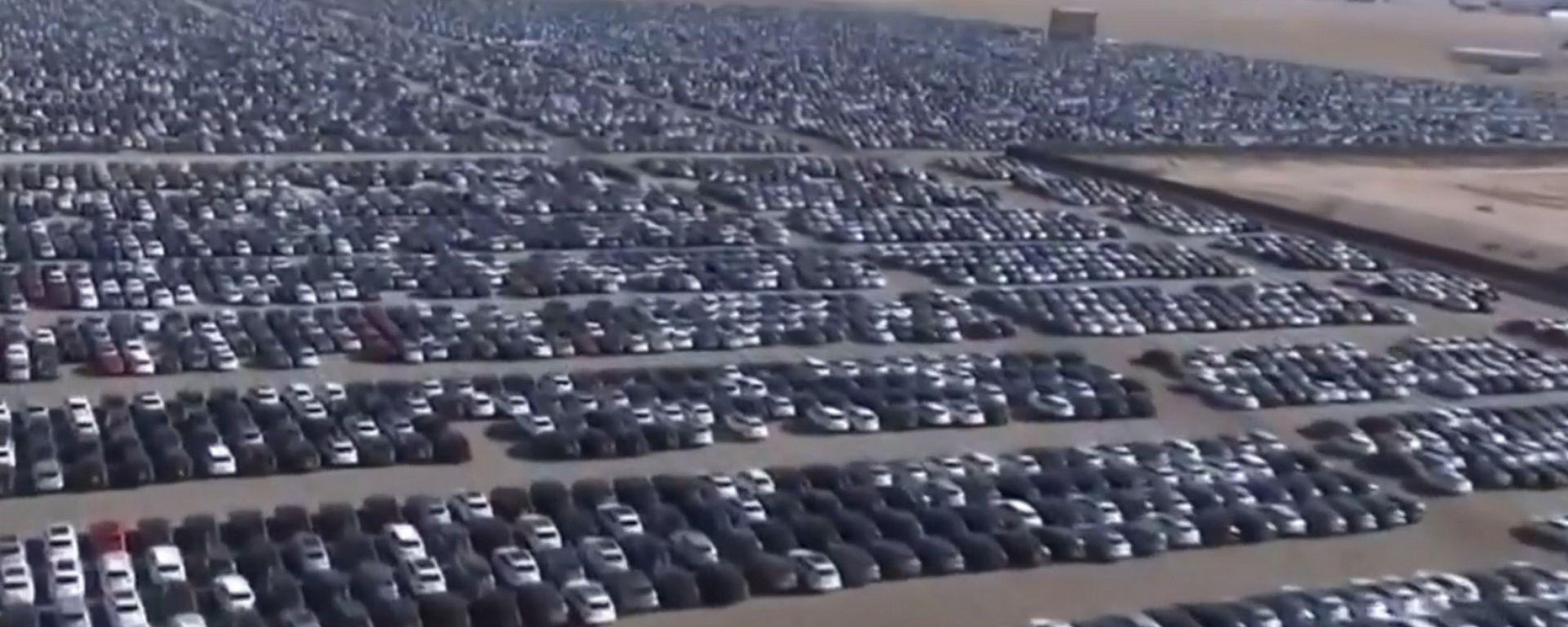 Le auto del Dieselgate in un parcheggio californiano