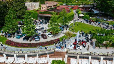 Le auto storiche parcheggiate nei giardini di Villa D'Este