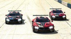 Le BMW M8 GTE virtuali andate a podio all'IMSA Sebring Saturday