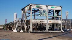 Le condizioni della Energy Station MotoE dopo l'incendio