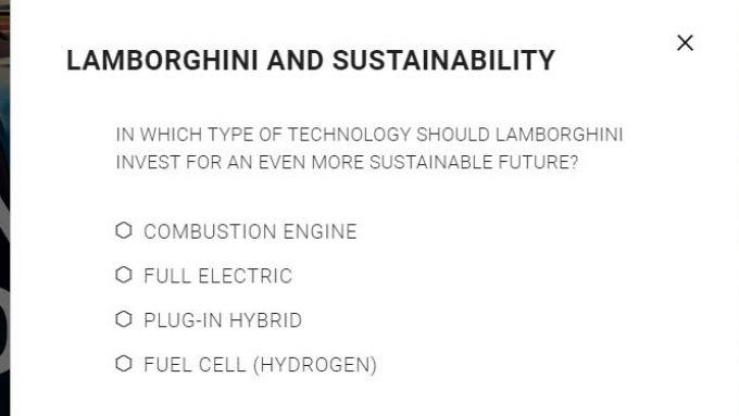 Le domande del questionario Lamborghini