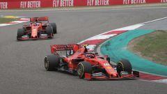 Le due Ferrari in azione in Cina