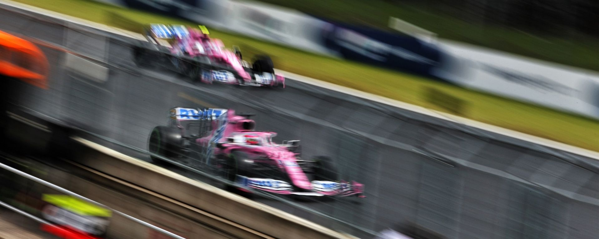 Le due Racing Point di Stroll e Perez al GP d'Ungheria