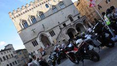 Le Honda Africa Twin 2016 in piazza a Perugia