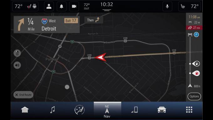 Le informazioni sul traffico in tempo reale di TomTom di Uconnect 5
