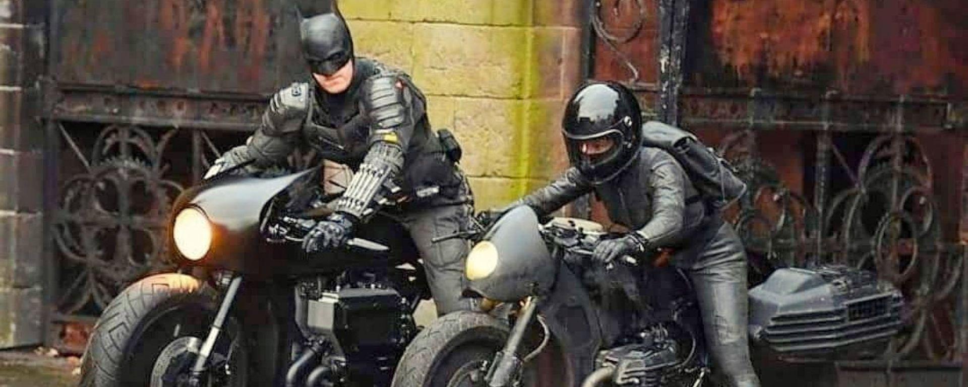 Le moto di The Batman con Robert Pattinson. Foto e video