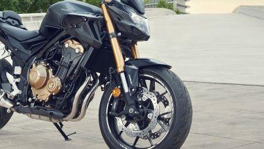 Le novità delle Honda CB500F, CB500X e CBR500R sono quasi tutte nella parte anteriore
