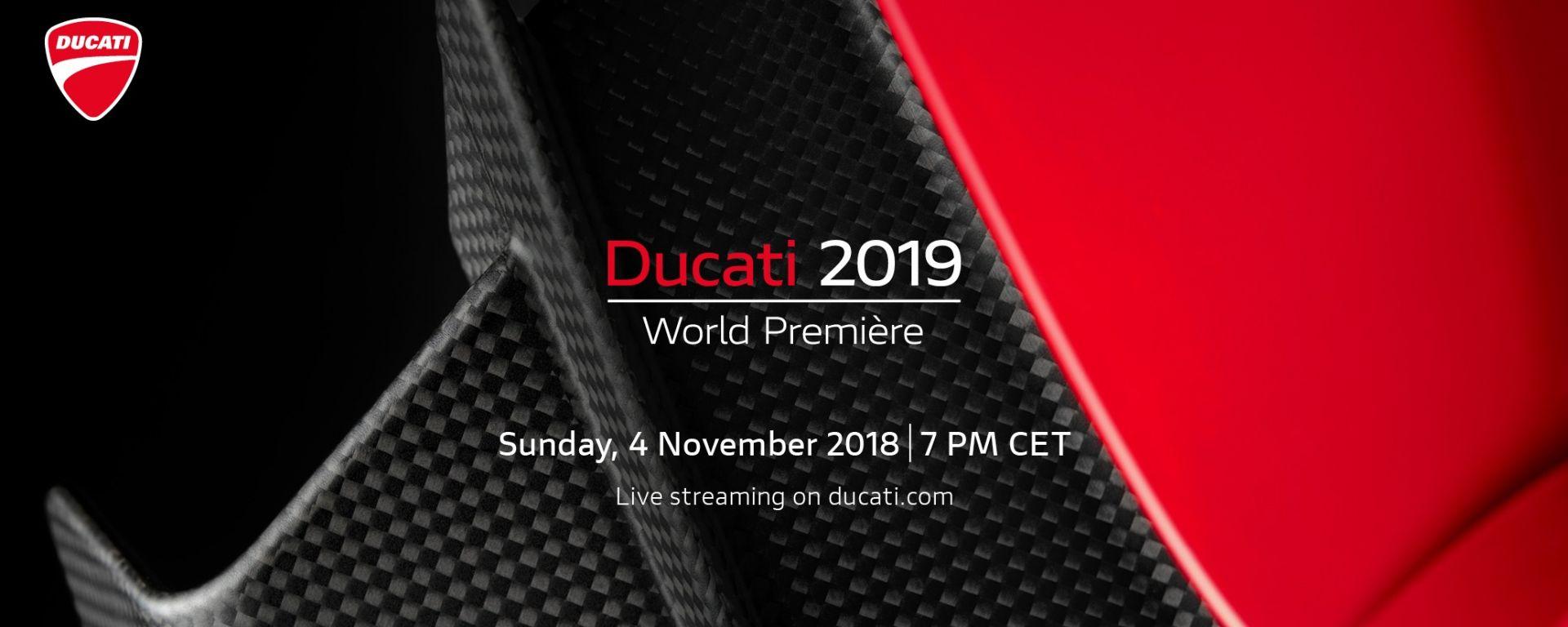 Le novità Ducati di EICMA 2018: guardale nel video in diretta dalla Ducati World Première 2019
