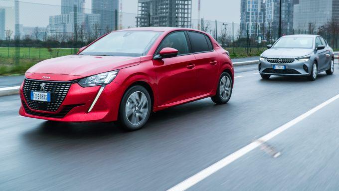 Le nuove Peugeot 208 e Opel Corsa