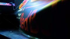 Le pance della Red Bull RB13, ora riviste e più strette per convogliare meglio l'aria