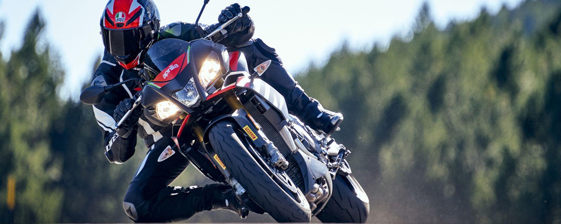 Le Pirelli Diablo Rosso IV su Aprilia Tuono V4