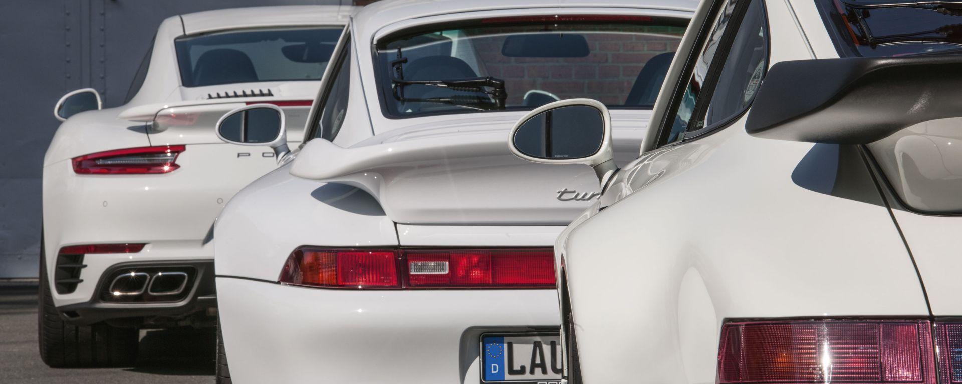 Le Porsche più importanti della storia: tre 911 Turbo a confronto