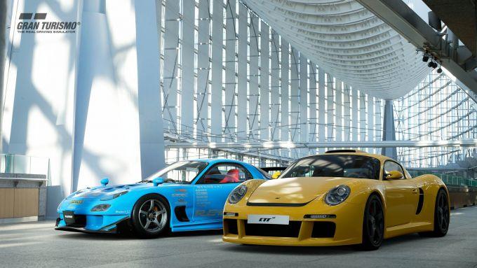 Le RE Amemiya FD3S RX-7 e la RUF CTR3 introdotte con il nuovo aggiornamento di Gran Turismo Sport