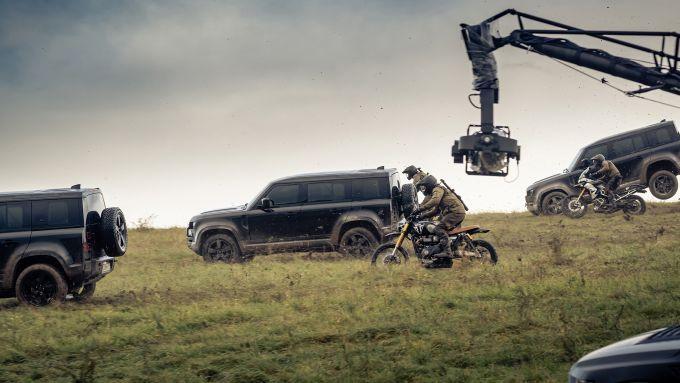 Le riprese dello spot di Land Rover