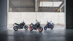 Le tre colorazioni della Yamaha MT-07 2021
