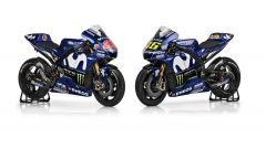 Le Yamaha M1 2018 di Rossi e Vinales