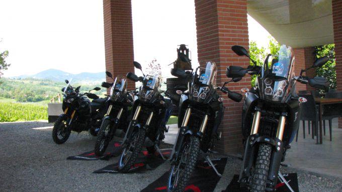 Le Yamaha Ténéré 700 pronte ad affrontare una giornata in fuoristrada