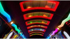 Learmousine, l'illuminazione in cabina - Foto: Mecum