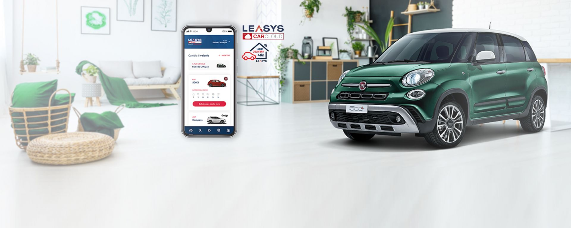 Leasys CarCloud, ora anche il servizio di consegna a domicilio