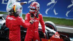 Leclerc e Vettel insieme dopo le qualifiche (Ferrari)