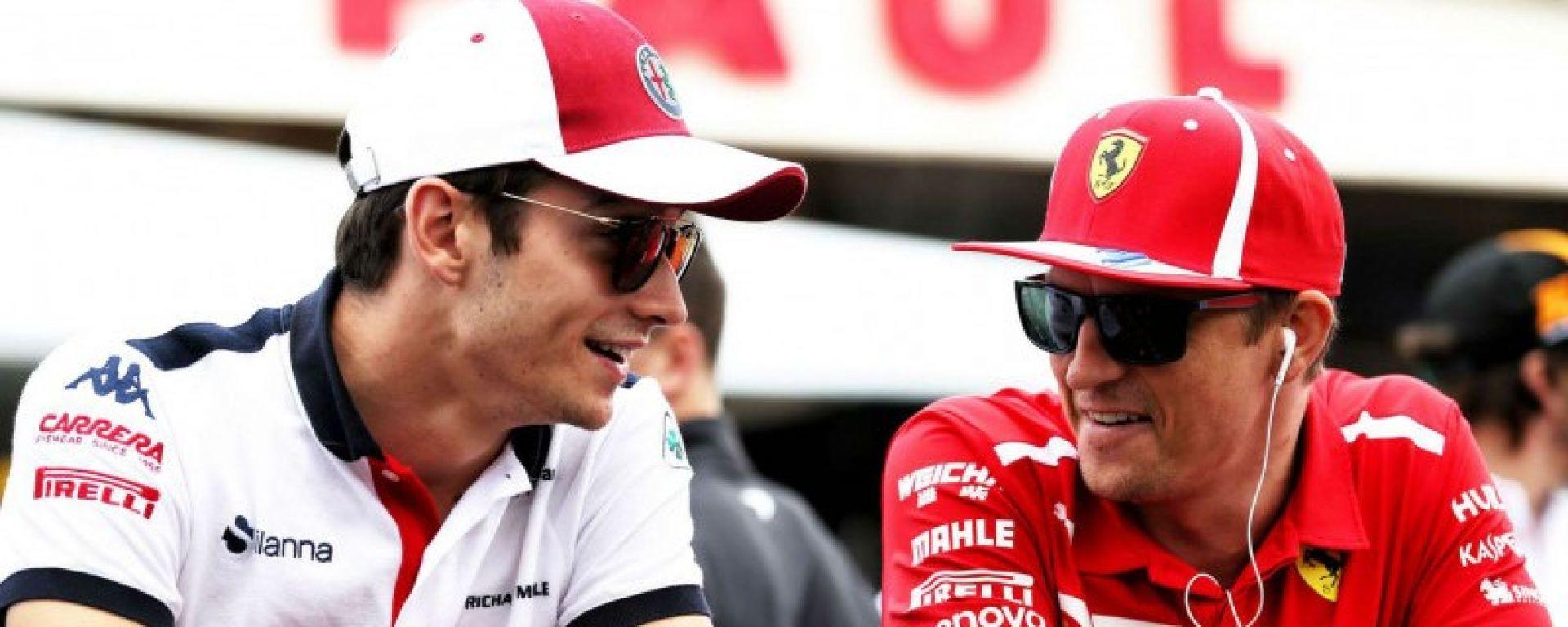 Leclerc in Ferrari e Raikkonen in Alfa Romeo, ci siamo