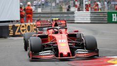 Leclerc in pista a Monaco