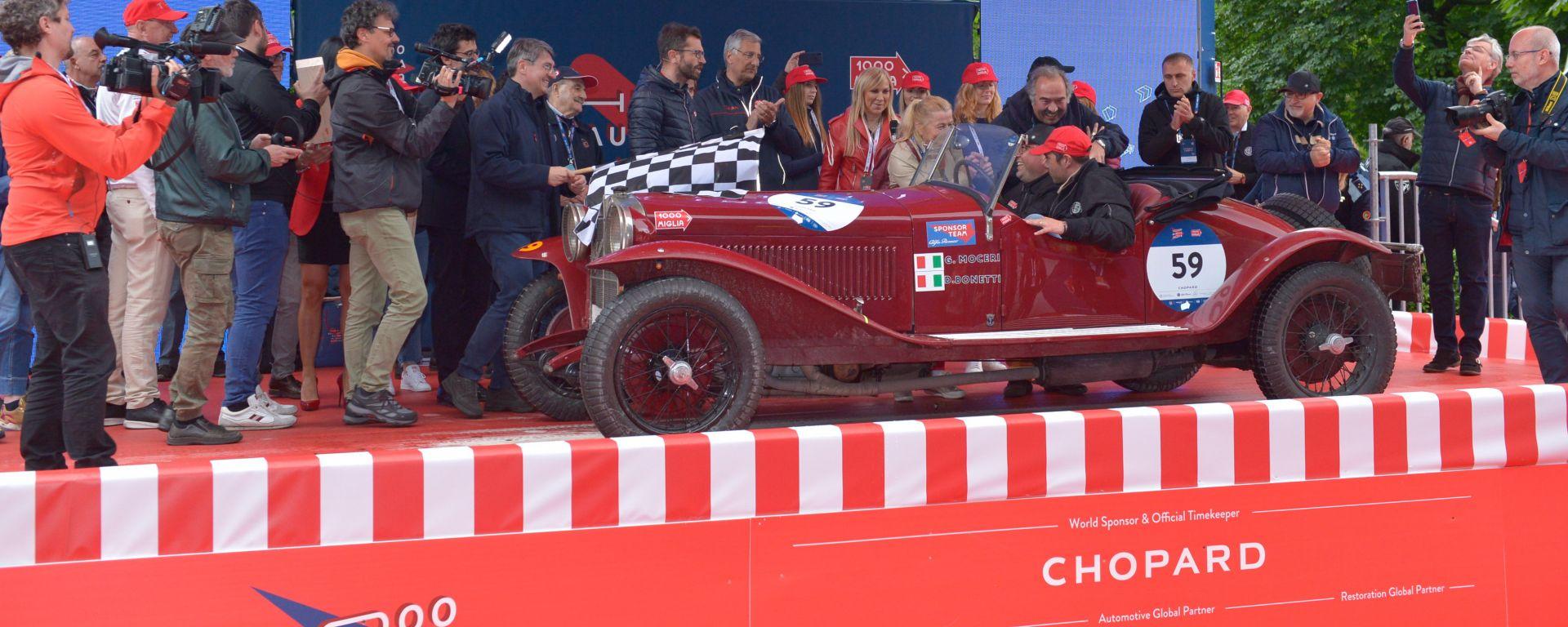 L'equipaggio vincente su Alfa Romeo 6C 1500 SS del 1928