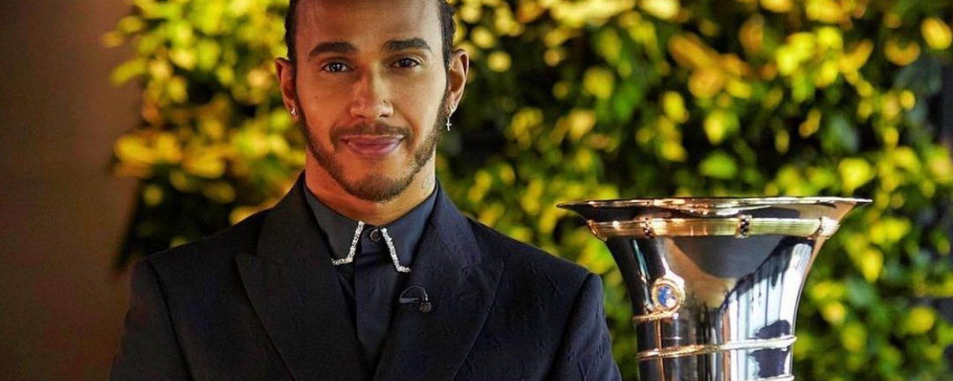 Lewis Hamilton alla premiazione Fia di fine anno | Foto Instagram @LewisHamilton