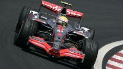 Lewis Hamilton con la McLaren del 2007