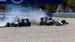 Lewis Hamilton contro Nico Rosberg a Barcellona 2016