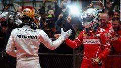 Lewis Hamilton contro Sebastian Vettel nel 2017