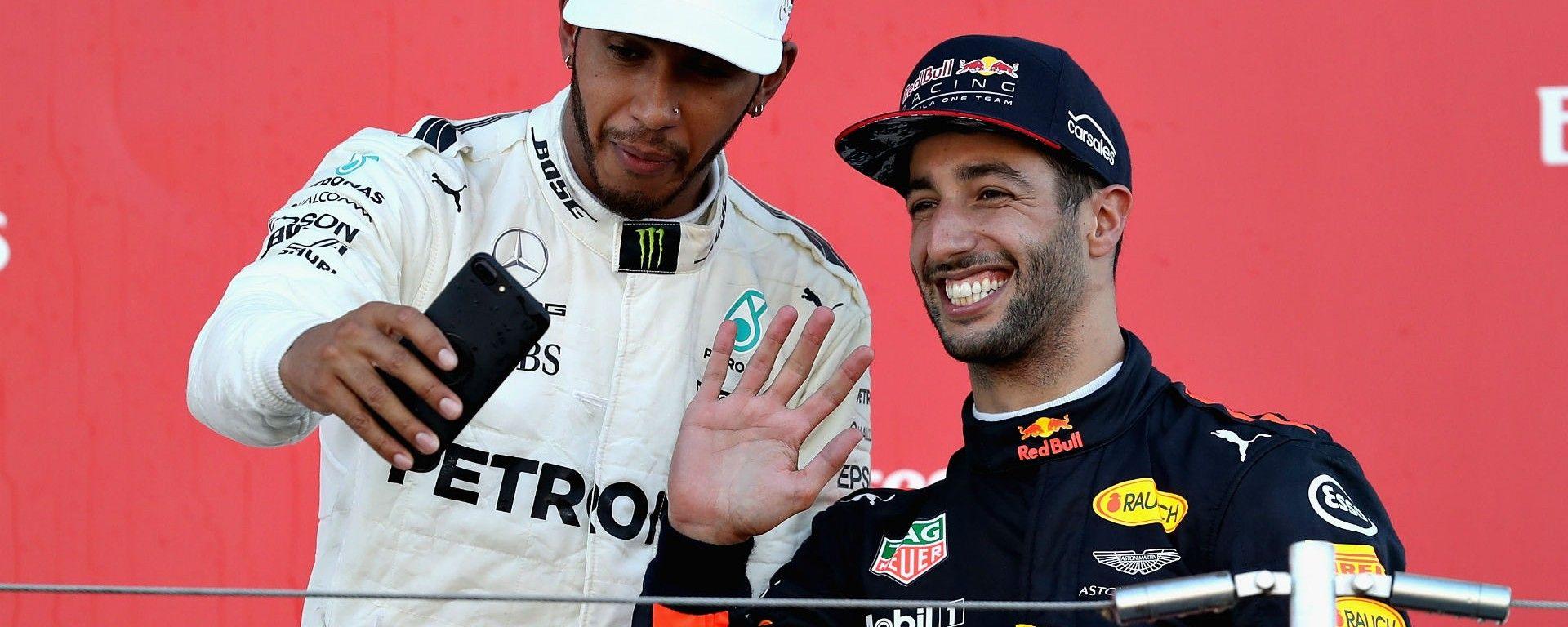 Lewis Hamilton e Daniel Ricciardo