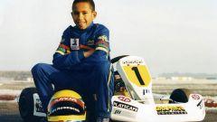 Lewis Hamilton e il suo go-kart