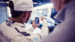 Lewis Hamilton e la presentazione della Mercedes W08
