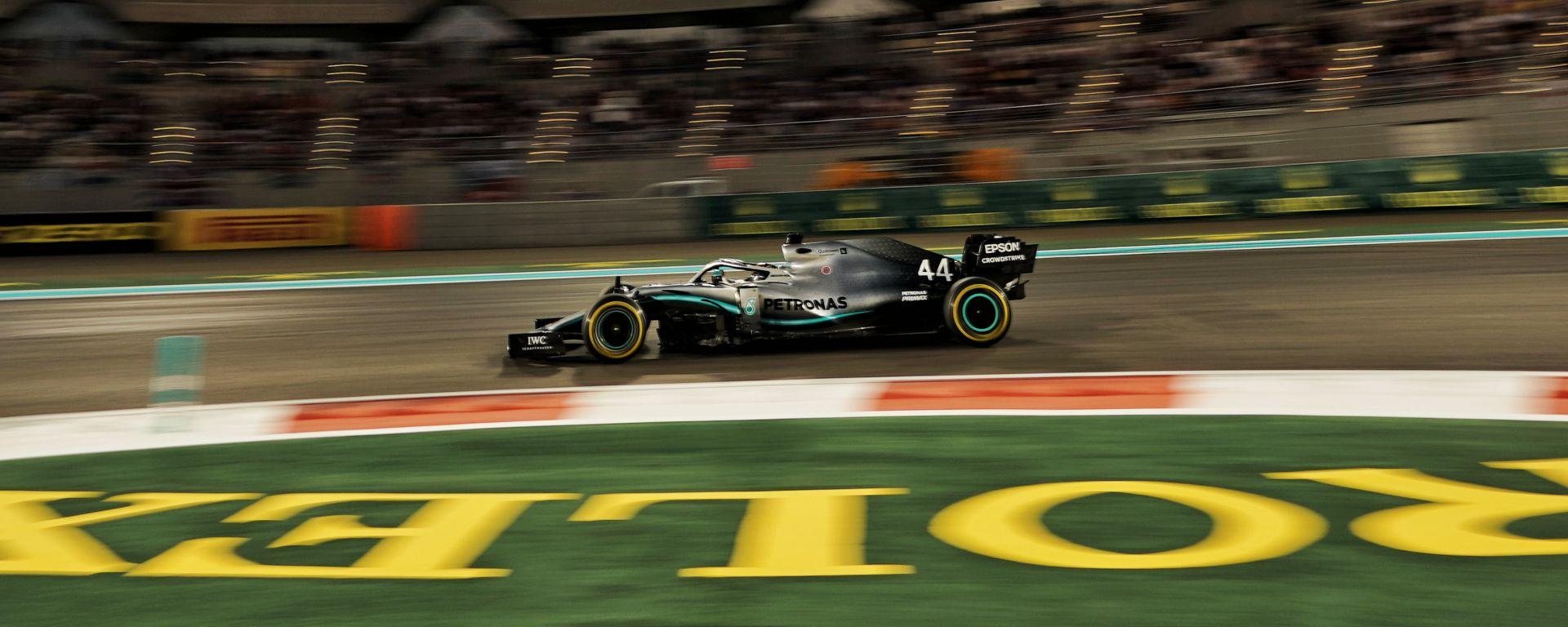Lewis Hamilton (Mercedes) è leader della classifica piloti F1 dopo il Gp di Abu Dhabi 2019