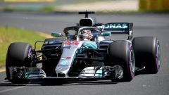 Lewis Hamilton sulla Mercedes W09 EQ Power+