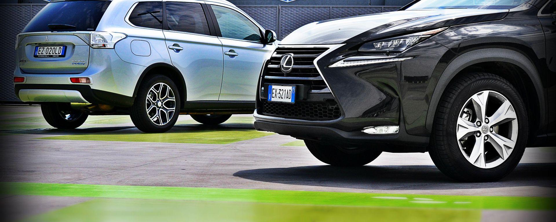 Lexus NX vs Mitsubishi Outlander PHEV: il video