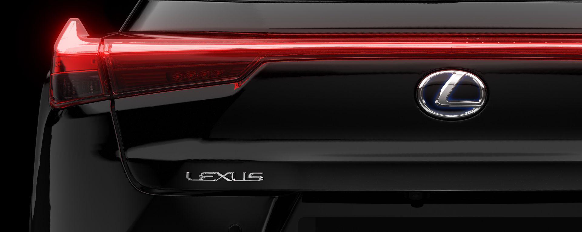 Lexus UX Hybrid Midnight Edition: vista del posteriore
