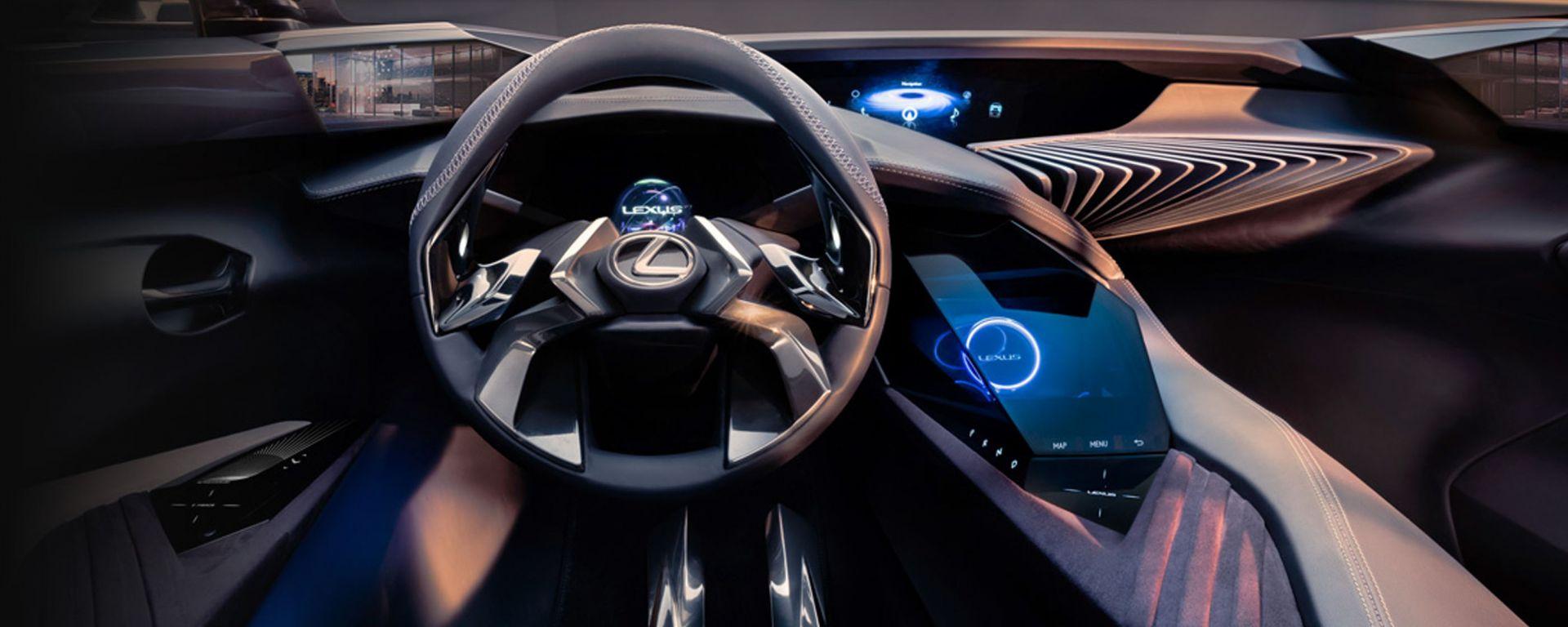 Lexus UX: l'abitacolo della concept giapponese è un tripudio di ologrammi e schermi futuristici