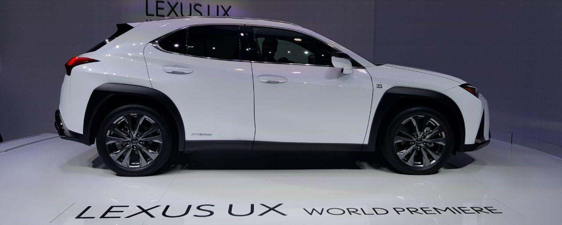 Lexus  UX, live salone di ginevra 2018
