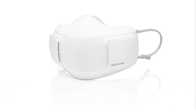 LG Puricare Wearable Air Purifier: visuale di 3/4