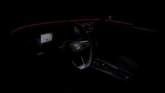 L'illuminazione ambientale a LED della nuova Seat Leon 2020